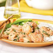 Sauteed Shrimp With Coconut Oil