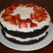 Strawberry Chipotle-Chocolate Cake