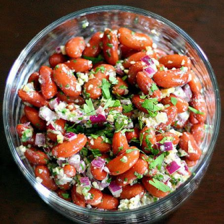Kidney Bean Salad with Walnuts and Cilantro