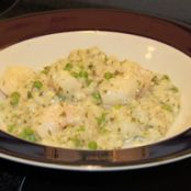 Shrimp Risotto with Peas