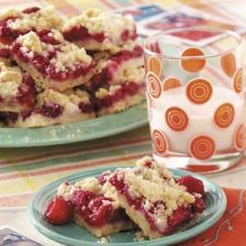 Raspberry Bars with Fresh Raspberries