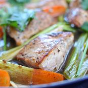 25-Minute Skillet Chicken w/ Carrots & Leeks