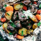Butter Garlic Herb Steak Foil Packets