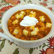 Dutch Oven Buffalo Chicken Chili