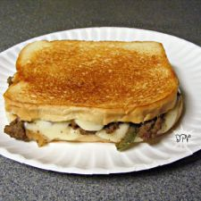 Philly Cheesesteak Grilled Cheese Sandwiches