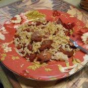 Pork Andouille Sausage with Red Beans and Rice