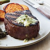 Pan Seared Steak with Chive-Horseradish Butter