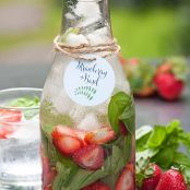 Strawberry & Basil Infused Water