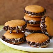 Choco Coconut Cookie Sandwiches