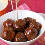 Meatballs, Chipotle-Orange BBQ