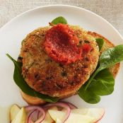 White Bean Burgers with Spinach