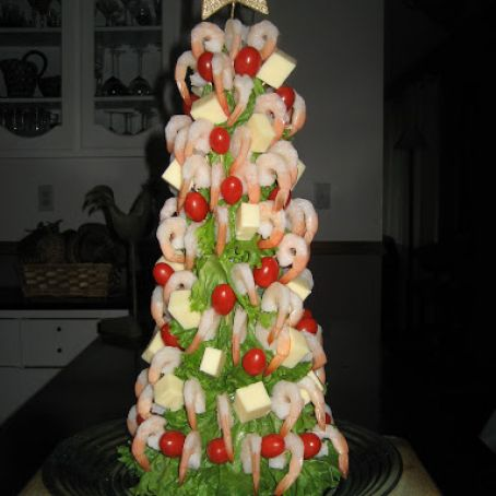 Shrimp Christmas Tree Appetizer