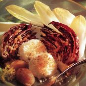 Grilled Radicchio with Goat Cheese & Roasted Shallots