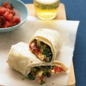 Burritos with Squash and Goat Cheese