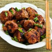 Grilled Sriracha-Sesame Turkey Meatballs