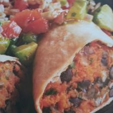 Moosewood Black Bean-Sweet Potato Burritos