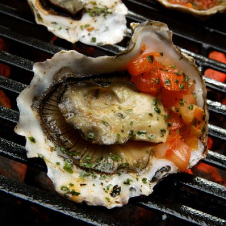 Spicy Grilled Oysters with Asian Pepper Relish Recipe - (4 1/5)