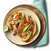 Sauteed Tilapia Tacos with Grilled Peppers and Onion