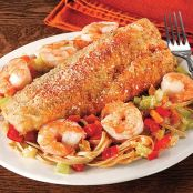Baked Walleye with Shrimp