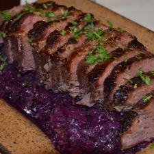 Clay Baked Corned Beef with Red Cabbage