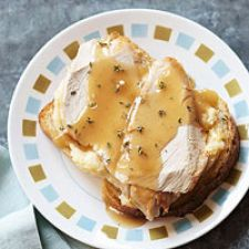 Slow Cooker Open-Faced Turkey Sandwiches