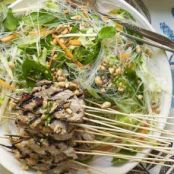 Vietnamese Green Mango Noodle Salad with Grilled Pork
