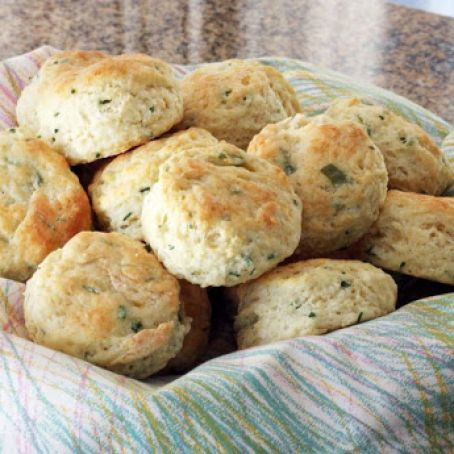 Cream Cheese and Chive Biscuits
