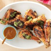 Chipotle-Mango Barbecue Chicken With Cilantro Chimichurri