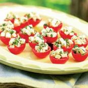 Cherry Tomatoes stuffed with Mozzarella and Basil