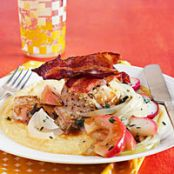 Chicken Thighs with Apples, Onions & White Cheddar Polenta