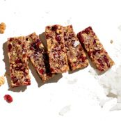Four-Ingredient Cranberry Walnut Bars