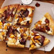 Butternut Squash and Turkey Bacon Pizza