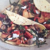 Grilled Wild Mushroom and Kale Tacos with Chipotle Salsa