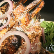 Grilled Rack of Lamb with Honey Pasilla Glaze