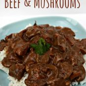 Slow Cooker Beef and Mushrooms (Freeze Ahead)