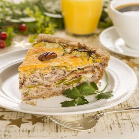Tomatillo Pecan Breakfast Pie
