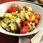 Corn, Tomato, Bacon, Avocado Salad