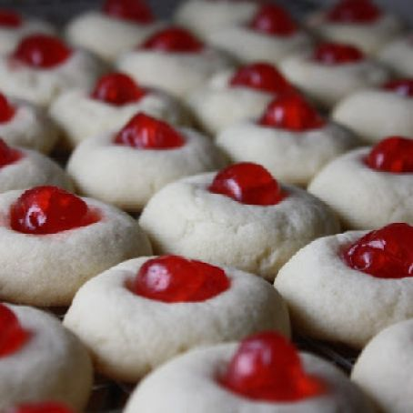 Frosted Cherry Drop Cookies