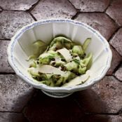 Zucchini Salad with Parmigiano and Pistachios