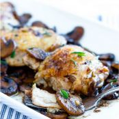 Skillet Chicken & Mushrooms - Low Carb