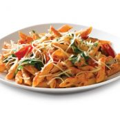 Chicken Penne with Tomato Garlic Cream Sauce