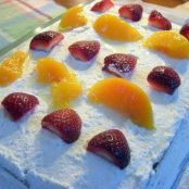 Strawberries & Peaches Cake