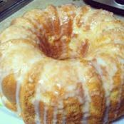 Cream Cheese Pound Cake with Vanilla Glaze