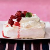 Cranberry & Orange Pavlovas