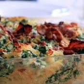 Baked Pasta with Spinach, Ricotta & Bacon