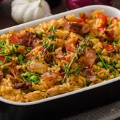 Spicy Cajun Chicken and Rice Casserole