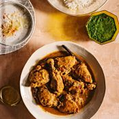Chicken with Roasted Coriander in Coconut-Curry Sauce