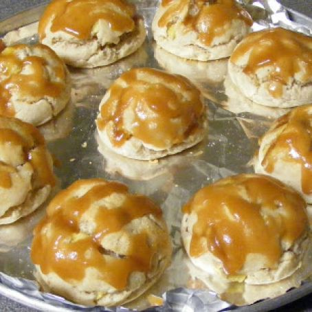 Brown Sugar Glazed Pineapple Biscuits