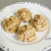 Peanut Butter No-Bake Drop Cookies