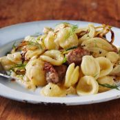 Orecchiette with Caramelized Fennel and Spicy Sausage